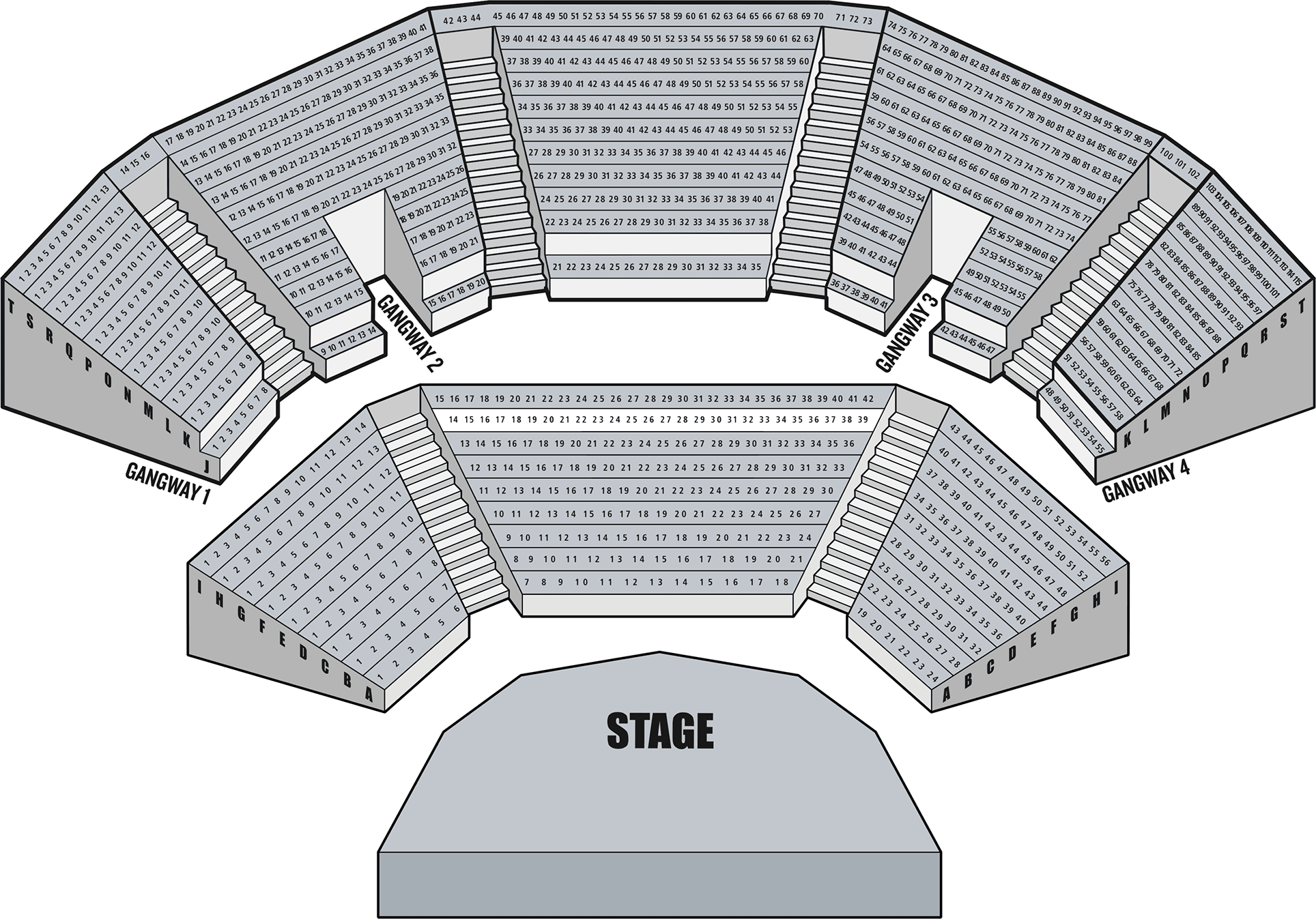 Open Air Theatre :: Seating Plan